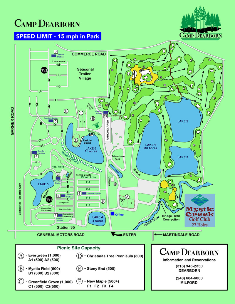 Camp Dearborn Map Camp Dearborn City Park   Outdoor Michigan
